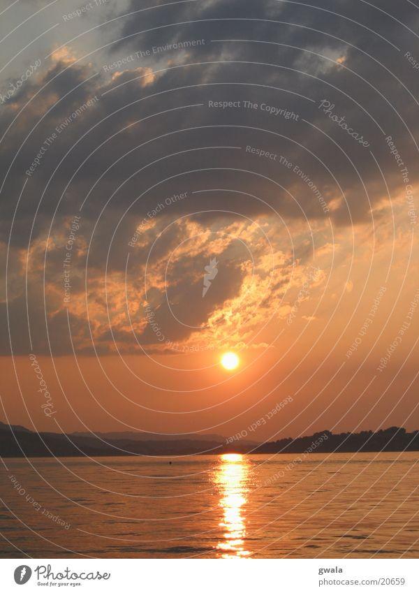 sunset monday Sunset Evening sun Lake Lucerne Orange Water switzerland sun
