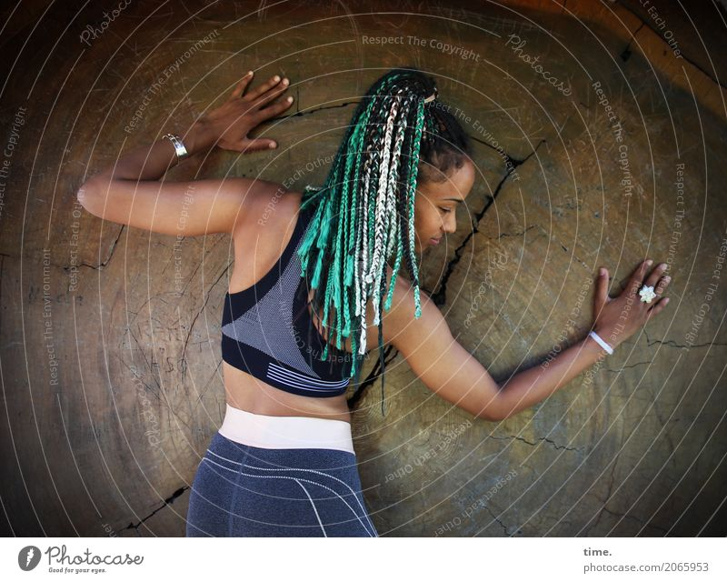 Human being Woman Beautiful Tree Adults Life Feminine Wood Happy Hair and hairstyles Esthetic Creativity Stand Fitness Athletic Passion