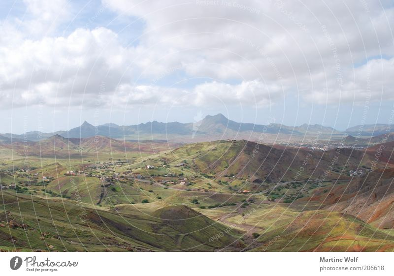 Sao Vicente Vacation & Travel Trip Far-off places Freedom Mountain Nature Landscape Sky Clouds Hill São Vicente Cabo Verde Africa Deserted Colour photo