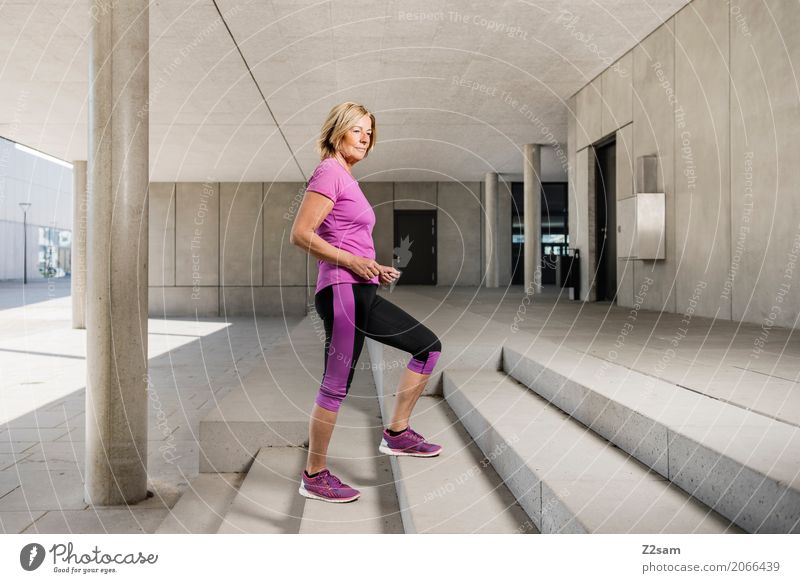 Woman Town Beautiful Adults Architecture Senior citizen Healthy Natural Sports Style Fashion Pink Design Elegant Blonde Power