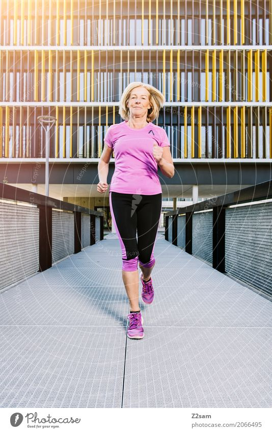 Running, always running Lifestyle Leisure and hobbies Sports Fitness Sports Training Jogging Woman Adults Female senior 60 years and older Senior citizen Town