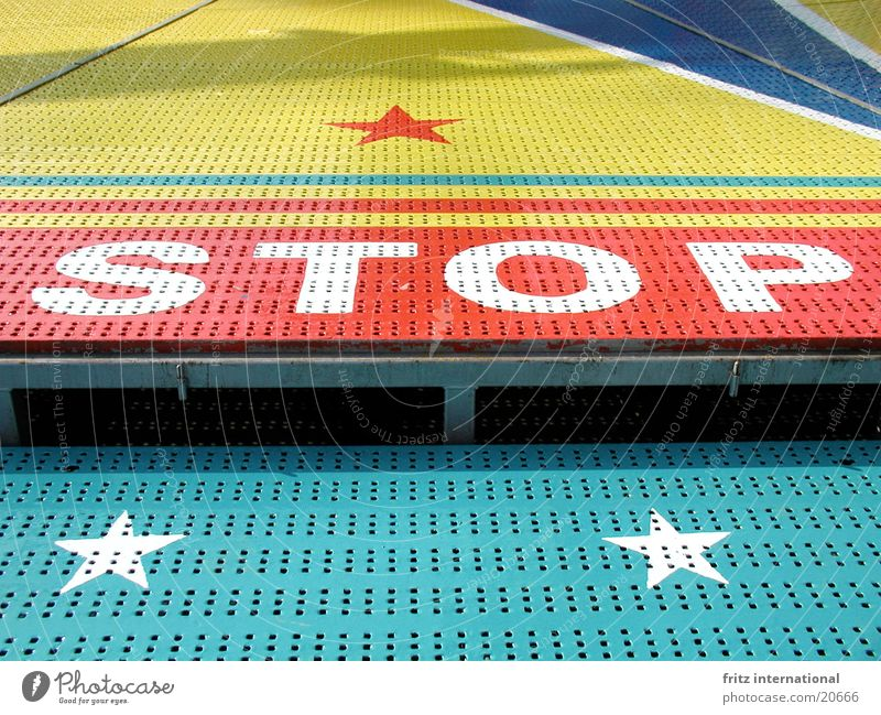 Colour Star (Symbol) Dangerous Characters Threat Stop Signage Fairs & Carnivals Typography Warning label Hold