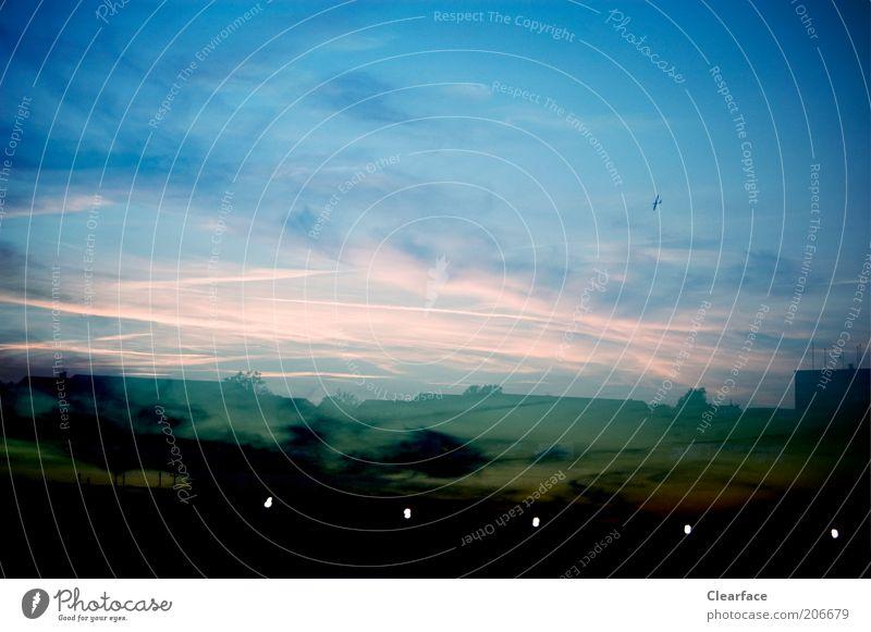 Sky Blue Clouds Black Landscape Exceptional Mystic Dramatic Outskirts Sunset Sunrise Twilight Fantastic landscape