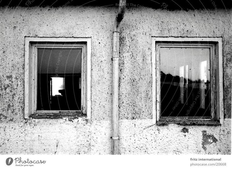 Old Window 2 Dirty Architecture Facade Grief Gloomy Distress Crack & Rip & Tear Plaster Vista Rain gutter