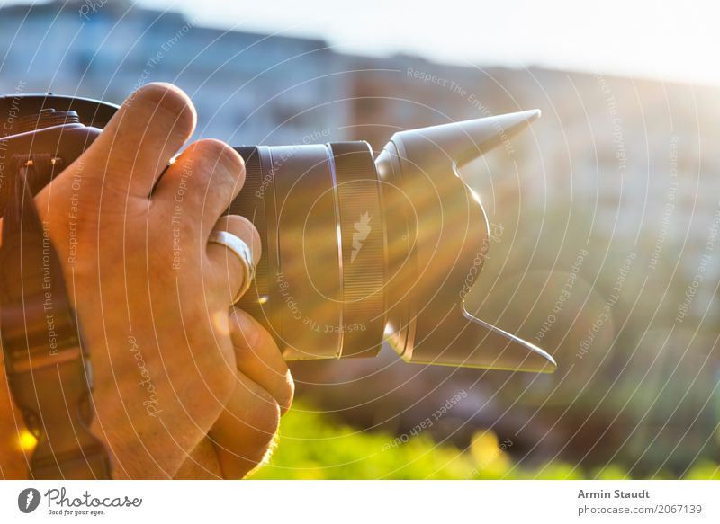 photographer Lifestyle Style Design Work and employment Profession Photographer Human being Masculine Hand Fingers Spring Summer Facade Moody Business