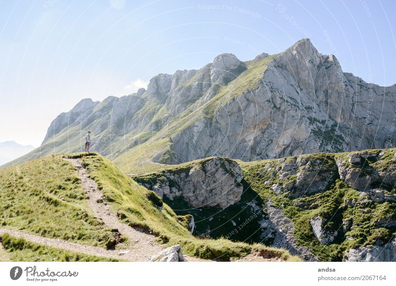 Slovenia II Vacation & Travel Trip Adventure Far-off places Freedom Expedition Summer Summer vacation Sun Mountain Hiking Masculine Young man