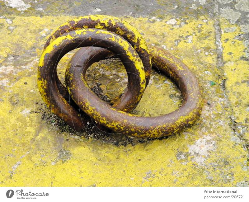 Old Yellow Colour Gray Circle Round Harbour Obscure Rust Jetty Proverb