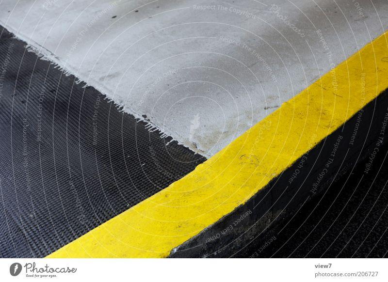 "Border=""#FFFF00"" Sign Line Stripe Authentic Simple Modern Yellow Colour Arrangement Perspective Marker line Warn Clue Corner Floor covering Colour photo"