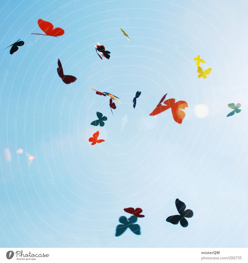 Sky Blue Summer Joy Love Life Playing Freedom Dream Air Art Design Flying Multicoloured Esthetic Peace