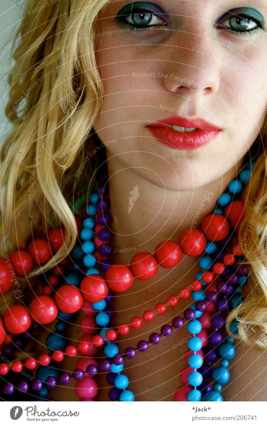 Lèvres Rouges Style Lipstick Feminine Mouth 1 Human being Blonde Curl Observe Esthetic Exceptional Exotic Fantastic Multicoloured Violet Contentment Chain