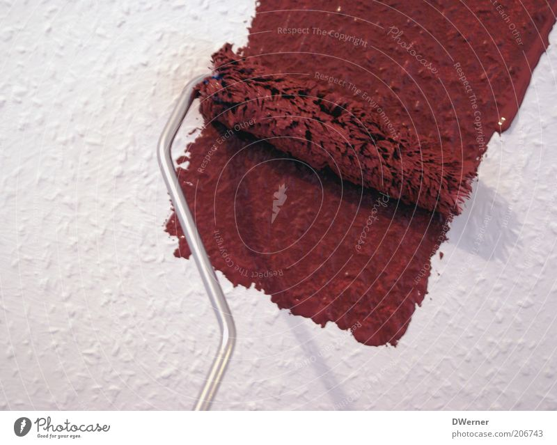 Red Colour Wall (building) Dye Wall (barrier) Facade Wallpaper New Pure Living or residing Painting (action, work) Tool Redecorate Coil Roll Embellish