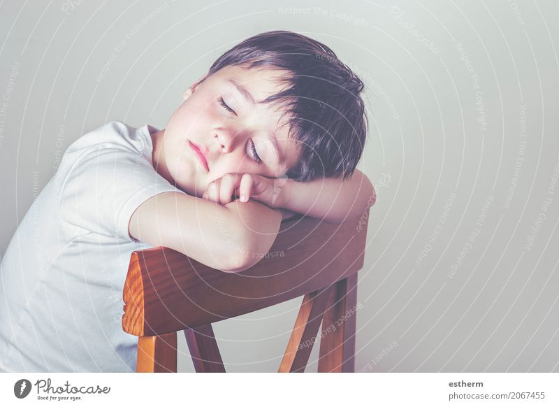 sleeping child Human being Child Relaxation Loneliness Lifestyle Sadness Love Emotions Boy (child) Dream Masculine Lie Infancy Sit Sleep Chair
