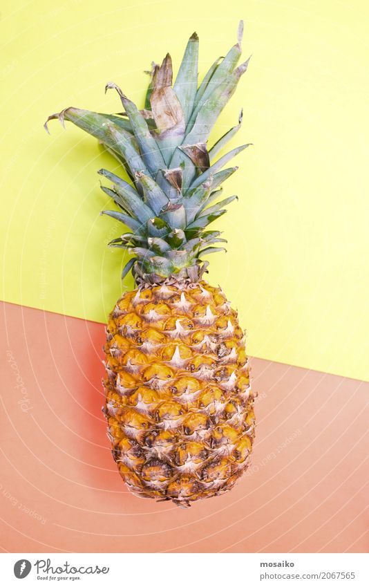 pineapple Fruit Banquet Cold drink Juice Lifestyle Style Design Exotic Joy Summer Summer vacation Esthetic Inspiration Kitsch Trade Creativity Culture Art
