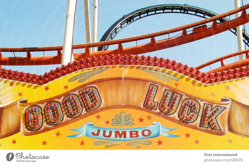 good luck Roller coaster Fairs & Carnivals Holy Synod Lamp Success Letters (alphabet) Characters Happy Münster Colour