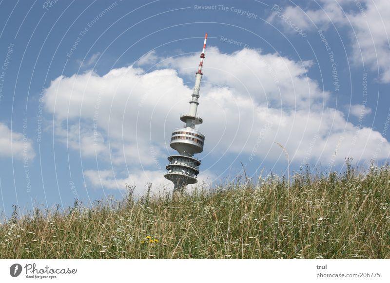 Sky Nature Summer Clouds Meadow Landscape Architecture Grass Elegant Tall Esthetic Bushes Hill Beautiful weather Munich Bavaria