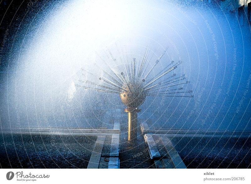 fountain Water Blue White Sun Cold Wet Cool (slang) Drop Well Heat Fountain Light