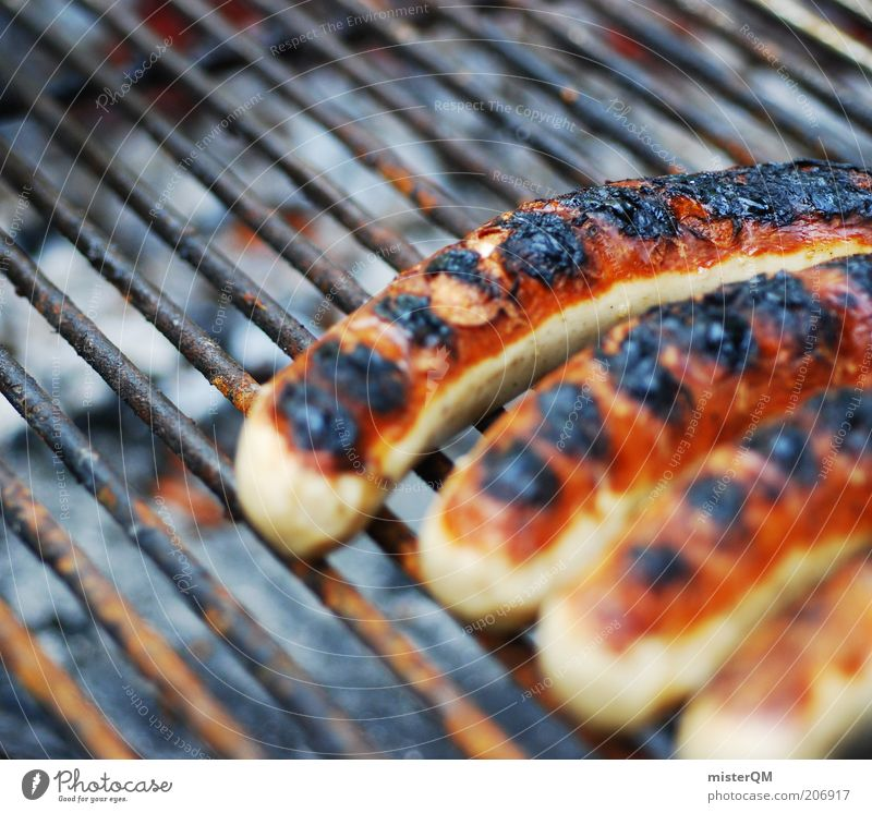 One more goes... Leisure and hobbies Barbecue (event) Bratwurst Barbecue (apparatus) Grill BBQ season Unhealthy Nutrition Sausage Warmth Hot Odor Fragrance