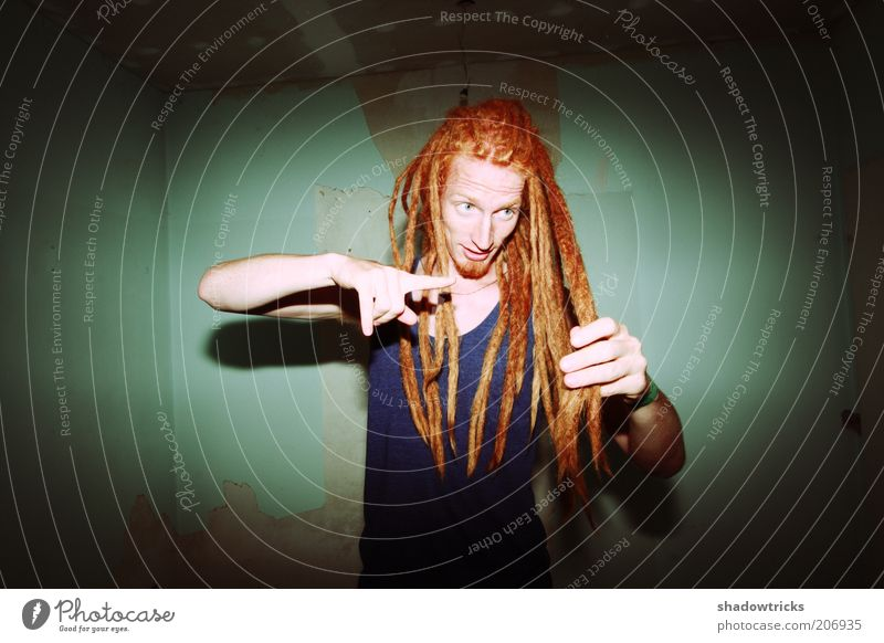 dreadlocks Lifestyle Style Exotic Masculine Young man Youth (Young adults) Man Adults 1 Human being 18 - 30 years Red-haired Long-haired Dreadlocks Afro