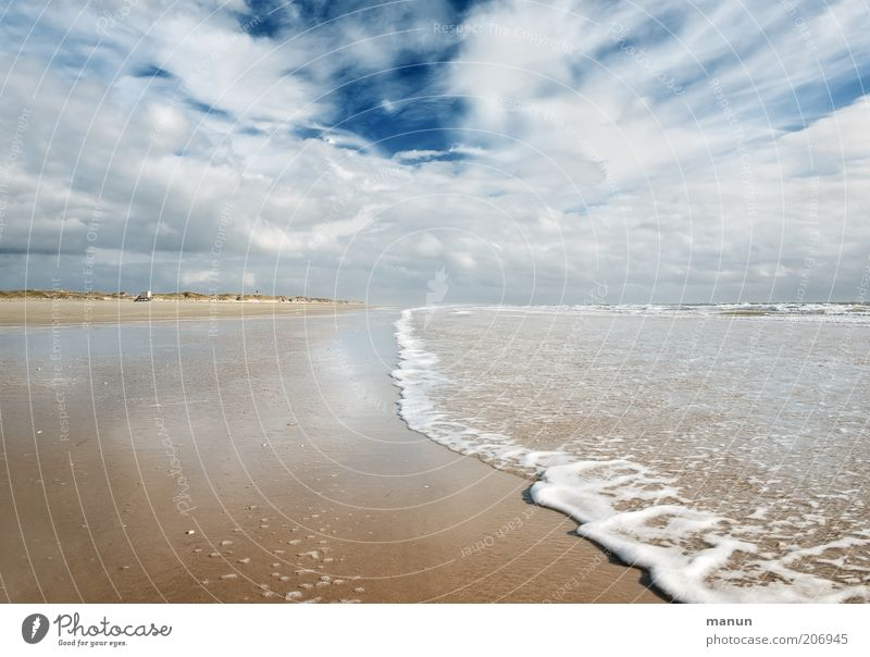Nature Ocean Summer Beach Vacation & Travel Clouds Loneliness Far-off places Life Relaxation Freedom Landscape Waves Coast Wind Weather