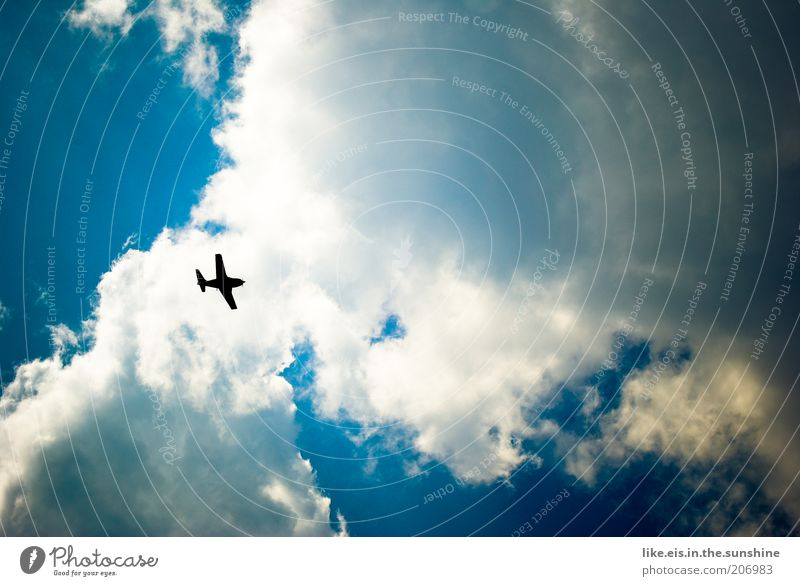 Ready for vacation!! Vacation & Travel Tourism Trip Sky Clouds Aviation Airplane Passenger plane Aircraft Wanderlust Vacation traffic Copy Space right