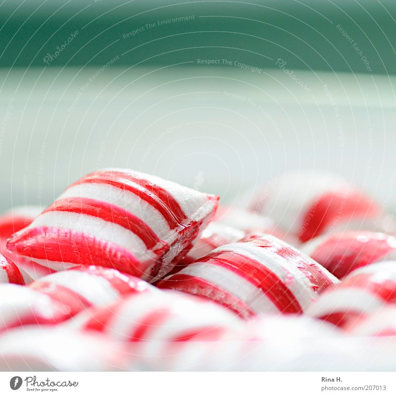 White Red Happy Pink Fresh Happiness Sweet Retro Kitsch Delicious Candy To enjoy Plate Candy Sugar Striped