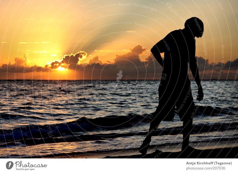 Human being Youth (Young adults) Water Beautiful Sky Sun Ocean Summer Beach Vacation & Travel Yellow Far-off places Emotions Freedom Warmth Sand