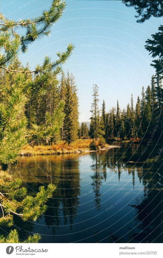 Silence in autumn Lake Idaho Autumn Sawtooth Mountains