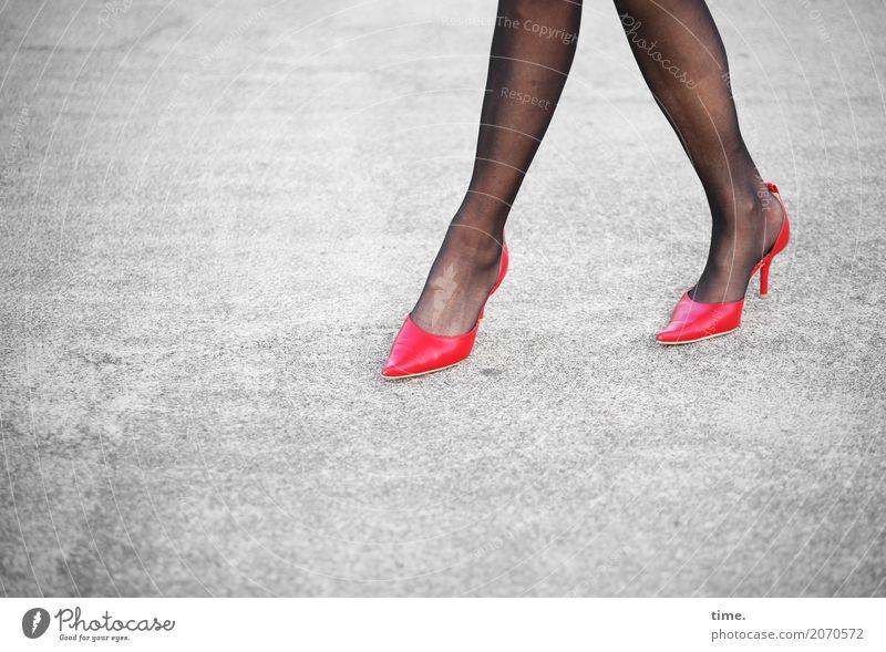 Human being Woman Town Beautiful Eroticism Adults Street Life Legs Lanes & trails Movement Feminine Feet Stone Going Elegant