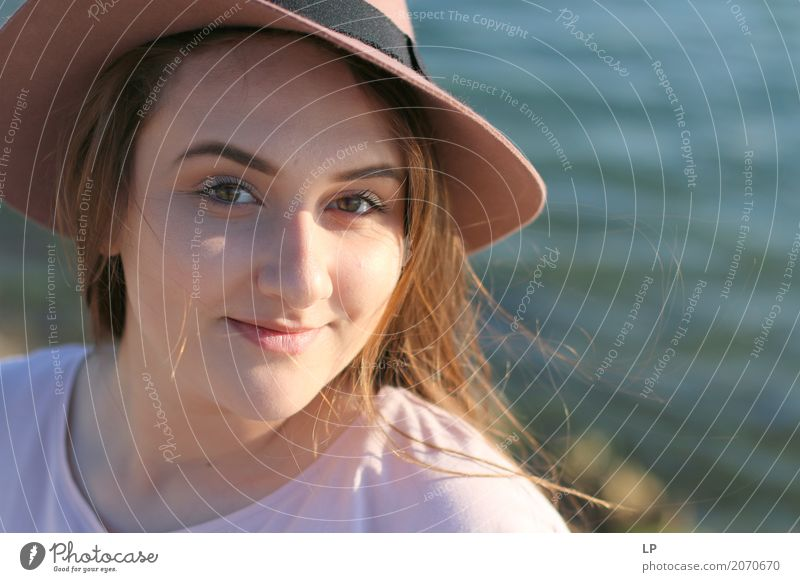 young girl wearing a hat Human being Vacation & Travel Youth (Young adults) Young woman Beautiful Joy Life Lifestyle Emotions Feminine Style Family & Relations