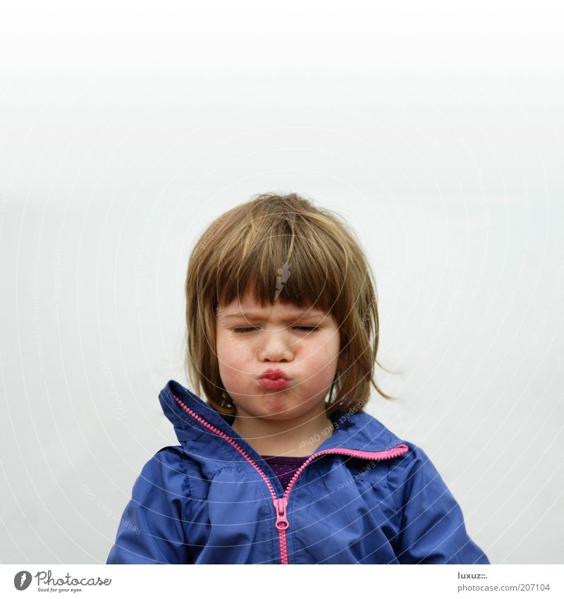 Child Girl Blue Playing Happy Think Funny Blonde Cool (slang) Kissing Anger Exceptional Infancy Facial expression Brash