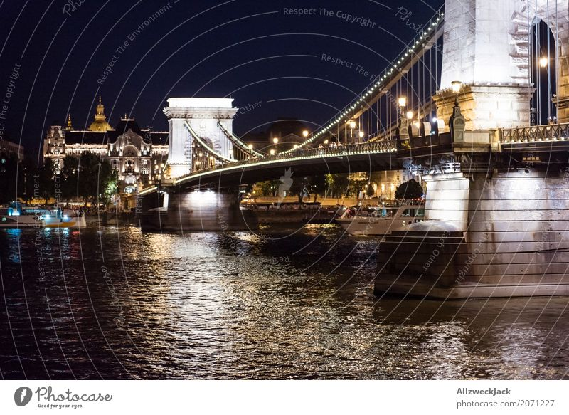 Budapest @ night 3 Vacation & Travel Tourism Trip Night life Hungary Capital city Downtown Old town Bridge Manmade structures Architecture Tourist Attraction