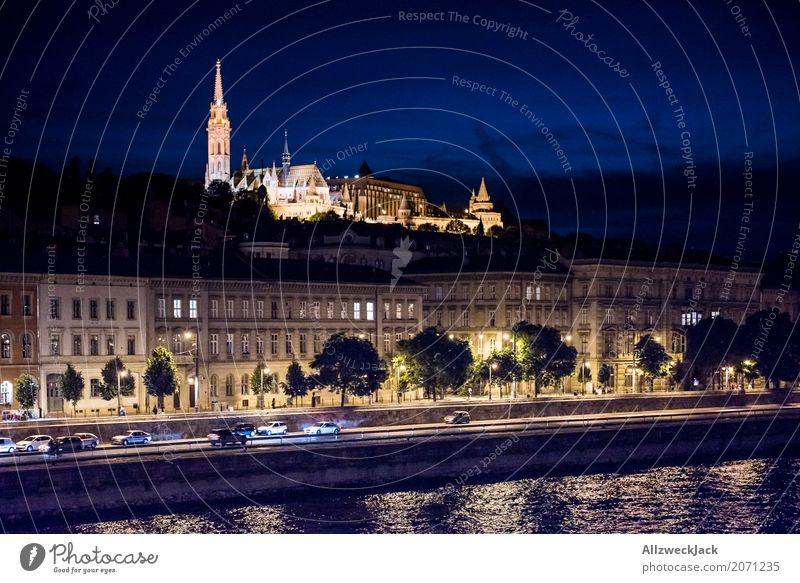 Budapest @ night 2 Vacation & Travel Tourism Trip Night life Hungary Capital city Downtown Old town Skyline Church Dome Palace Tower Tourist Attraction Landmark