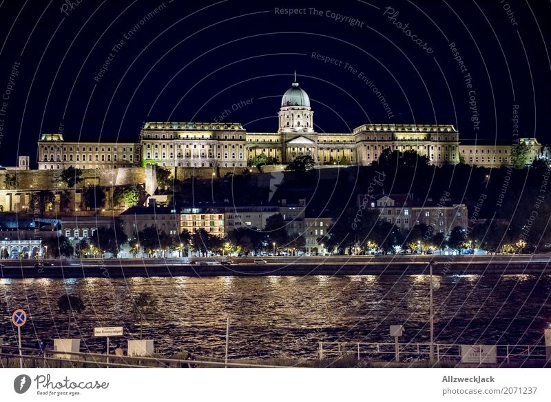 Vacation & Travel Tourism Trip Historic Tourist Attraction Landmark Capital city Castle Old town Downtown Luxury Night life Palace Night shot Danube Budapest