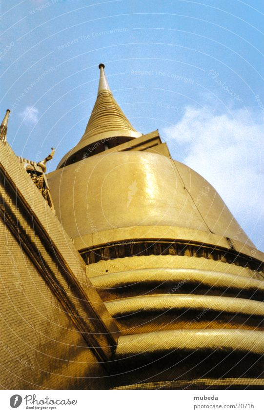 Golden Temple Thailand Worm's-eye view Buddhism Bangkok Success