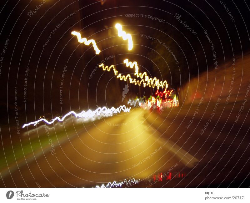 Drive by wire Graz Night Light Speed Long exposure motion Street