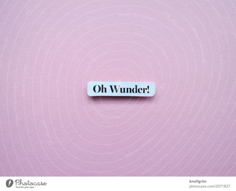 Oh wonder! Characters Signs and labeling Communicate Exceptional Pink Black White Emotions Joy Happy Joie de vivre (Vitality) Enthusiasm Curiosity Belief
