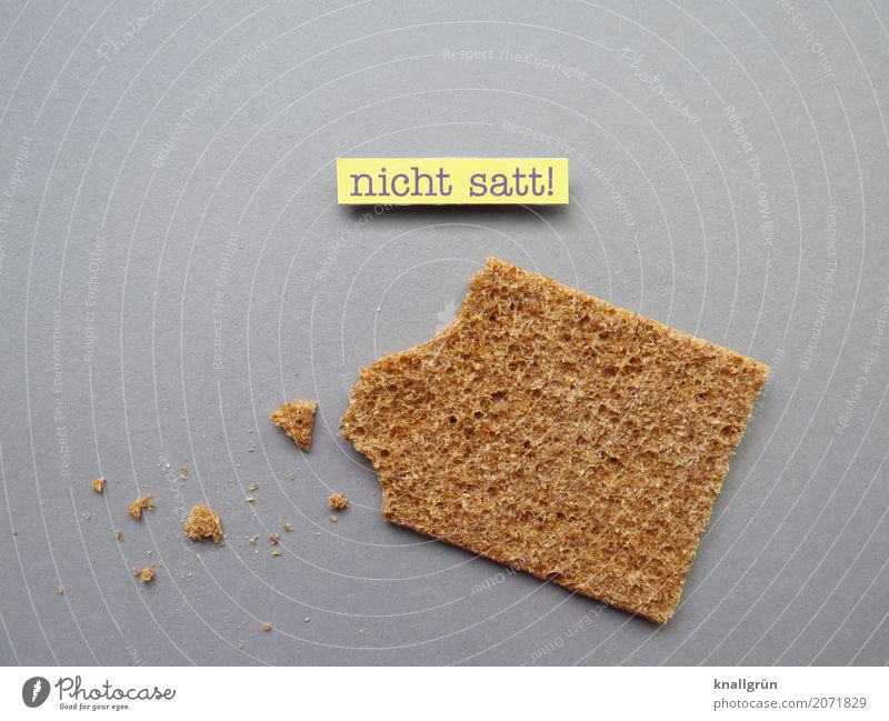 not full! Food Grain Dough Baked goods Bread Crispbread rye bread Nutrition Diet Fasting Characters Signs and labeling Communicate Thin Sharp-edged Brown Yellow