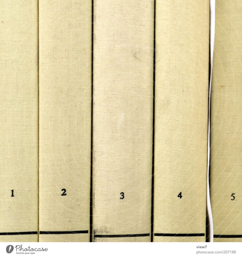 Old 1 Line 2 Dirty Book 3 Paper Authentic Stripe Simple Digits and numbers 4 5 Row Sharp-edged