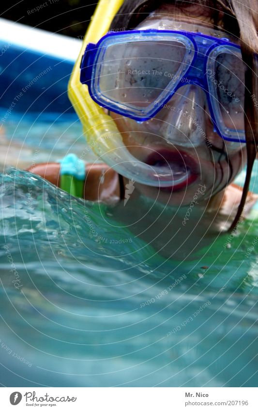 Water Girl Summer Eyes Feminine Head Swimming & Bathing Mouth Wet Nose Swimming pool Mask Dive Breathe Snorkeling Child