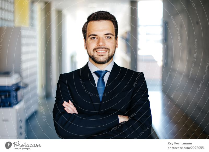 Business portrait of a young man Luxury Elegant Style Work and employment Office work Financial Industry Company Career Success Masculine Man Adults Life 1