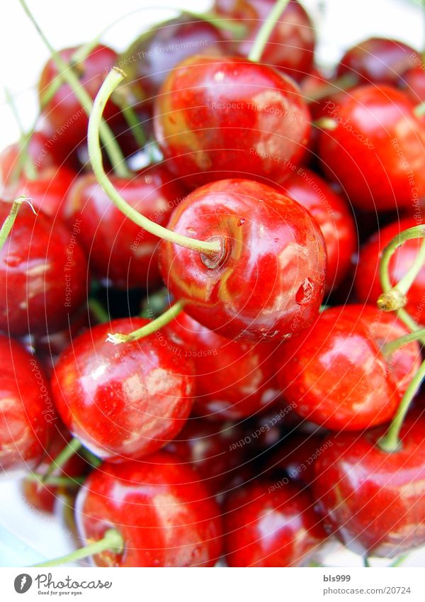 Cherries - sin? Cherry Red Macro (Extreme close-up) Summer Healthy Fruit