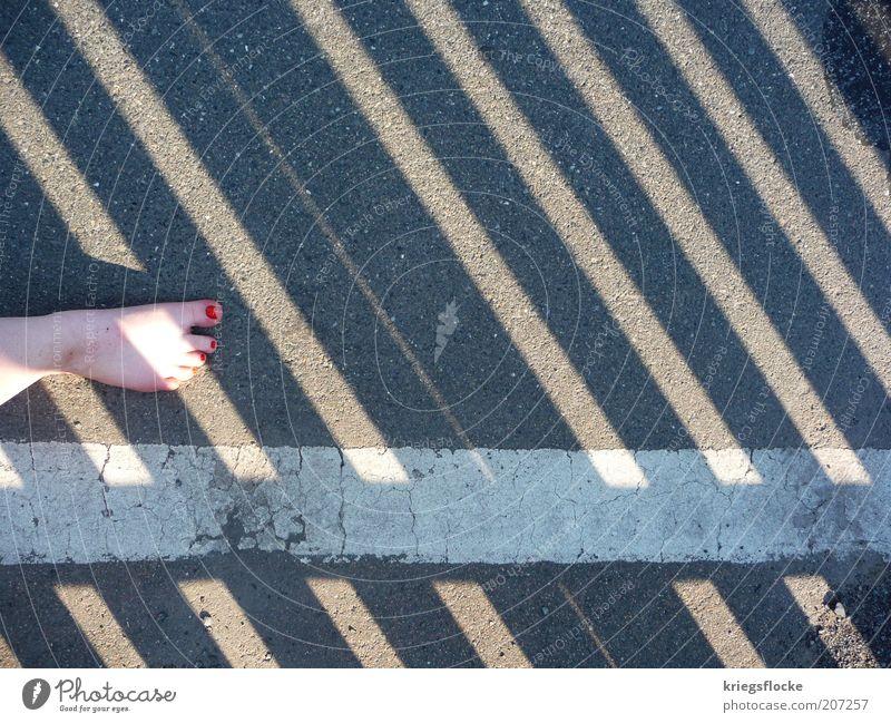 White Red Summer Street Gray Lanes & trails Feet Line Dirty Walking Stripe Asphalt Barefoot Pedestrian Roadside Nail polish