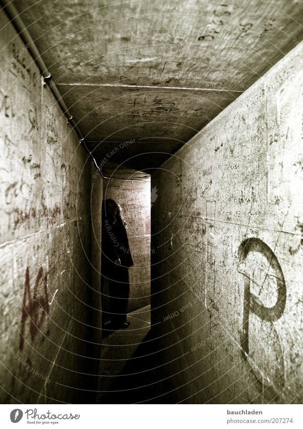 Dark Wall (building) Gray Wall (barrier) Wait Stand Observe Historic Cologne Dome Symmetry Corridor Underground Catacomb Cologne Cathedral