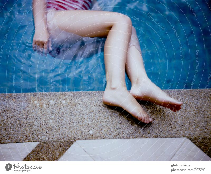 wet legs Human being Youth (Young adults) Water Summer Joy Legs Adults Underwater photo Live Young woman Adjectives Asians Polaroid Woman Thai 18 - 30 years