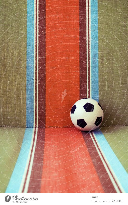 WORLD CUP '74 Lifestyle Design Leisure and hobbies Foot ball Ball Toys Line Stripe Retro Round Things Colour photo Multicoloured Exterior shot Detail Deserted