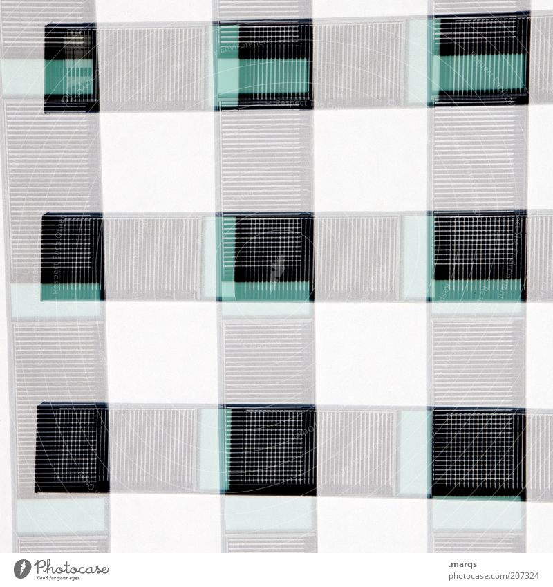 Window Architecture Style Background picture Facade Arrangement Design Exceptional Perspective Square Double exposure Surrealism Checkered Copy Space Grid