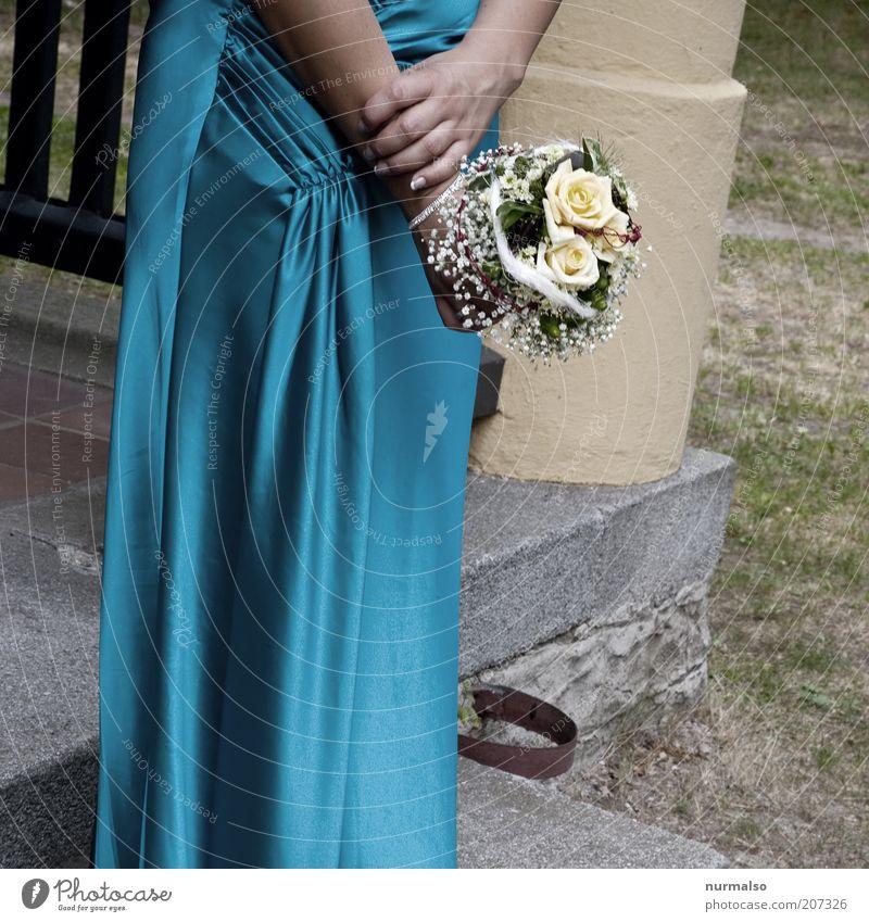 Human being Blue Hand Beautiful Summer Yellow Feminine Environment Emotions Happy Feasts & Celebrations Elegant Wait Fresh Esthetic Wedding