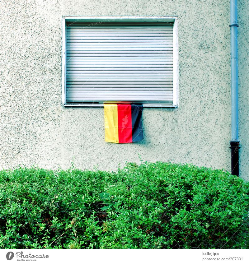 it was nice Lifestyle Style Leisure and hobbies Fan Bushes Facade Window Flag Living or residing Germany World Cup Pride The nation German Flag Roller shutter