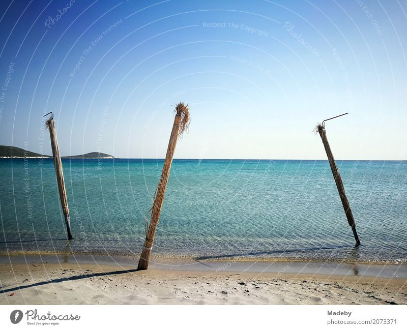 Beach in the bay of Alacati near Izmir in Turkey Vacation & Travel Tourism Far-off places Freedom Summer Summer vacation Sun Ocean Sculpture Nature Landscape