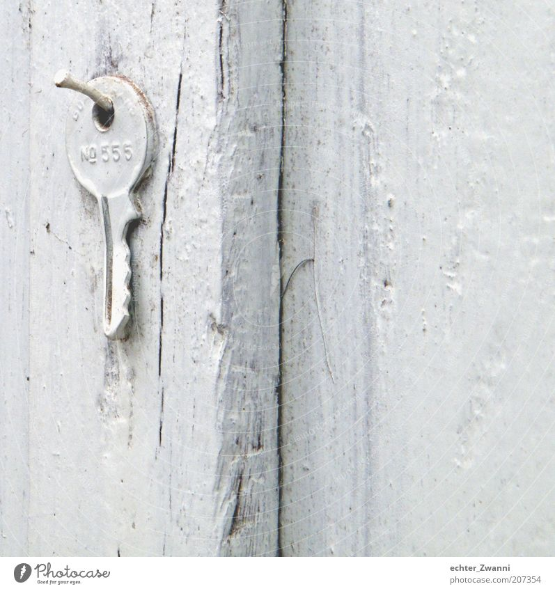 White Wood Dye Digits and numbers Hollow Wooden board Key Nail Hang up Wood grain Painted Wooden wall Keyring Varnished